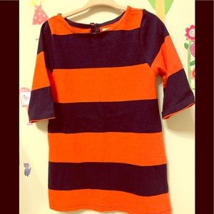 CREWCUTS JCREW RUGBY DRESS SIZE 3 RED BLUE